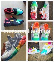 Wholesale 2016 New Air Huarache Ultra Running Shoes Huaraches Rainbow Ultra Breathe Shoes Men And Women Huraches Multicolor Sneakers Size