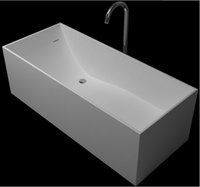 Wholesale 1700x720x540mm Solid Surface Stone CUPC Approval Bathtub Rectangular Freestanding Corian Matt Or Glossy Finishing Tub RS6514