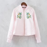baseball uniform belts - Europe and the United States in the summer with a new silk embroidery flower joker atmosphere splicing baseball uniform coat jacket female t