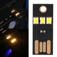 battery powered fluorescent light - Mini USB Power LED Light W ultra low power chips Pocket Card Lamp Portable Night Camp