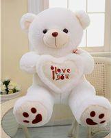 al por mayor osos de peluche-Beige gigante peluche grande oso de peluche regalo suave para el cumpleaños de San Valentín KD11