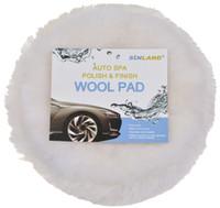 Wholesale SINLAND Inch Wool Polishing Buffing Pads Self adhesive Wool Polisher Bonnets for POLISHING BUFFING Fits all Inch Polishers