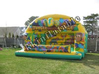 backyard forest - Jungle theme inflatables moon bouncers Customized Forest Inflatable Jumper house for kids playing