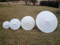 al por mayor chinese parasol-Parasoles nupciales de la boda Mini paraguas blancos del papel Mini paraguas chino del arte 4 Diámetro: los 20,30,40,60cm decoración del favor de la boda