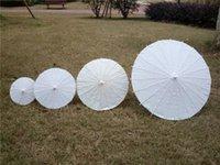 al por mayor chinese parasol-sombrillas novia de la boda blanca de mini paraguas de papel china de mini paraguas artesanales 4 Diámetro: 20,30,40,60cm decoración favor de la boda