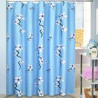 Wholesale 2016 Newest Mildewproof Bathroom Curtain Fabric Shower Curtains Waterproof flower Bath Accessories