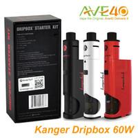 starter - Original kangertech dripbox Starter Kit with New cigarette Kanger dripmod w box mod dripbox driptip vaporizer ml atomizer Dripping Coil