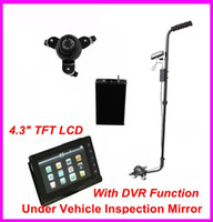 Wholesale New Arrvial Home V3D Under Vehicle Inspection Detector Car Inspection Mirror With DVR Function with Camera and quot LCD Monitor