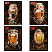 Wholesale Beer Bar Creative Personality Decorative Painting Mural Wall Painting Paintings Restaurant Internet Cafe Brass Knuckles Weapon Ajax GJ54