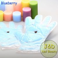 Wholesale Pair Blueberry Paraffin Wax Hand Gloves FDA Skin Care Moisture Mask Hand Reusable DIY Manicure Home SPA