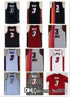 aba hardwood classic - Dwyane Wade Jersey throwback ABA Hardwood Classic white black red all star Rev Basketball jerseys