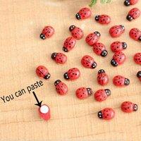 Wholesale 10 Ladybird Ladybug Sticker Children Kids Painted Adhesive Back Craft Home Party Decorations