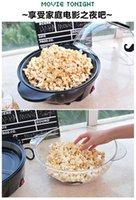 Wholesale Hihg Quality Mini Popcorn Machine Popcorn Makers Silver Striped Home Automatic Electric Children Popcorn Machine
