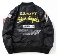 american bomber jackets - Thin autumn spring Jacket Insignia Kanye West MA1 Bomber Jacket Skateboard American Flight Jacket