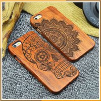 bamboo sculptures - New Style Bamboo Traditional sculpture Wood Hard Back Wooden Case Cover phone Case for iphone s s s plus plus se Hight Quality
