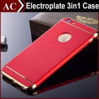 Wholesale Luxury Electroplate Ultra Thin Frosted Armor Hard PC Case For iPhone S SE S Plus Slim In Full Body Shockproof Removable Back Cover