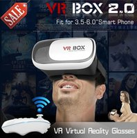 Wholesale Original Google Cardboard D Glasses Virtual VR BOX for iPhone in D Glasses Virtual Reality Glasses Smart Bluetooth Wireless Mouse