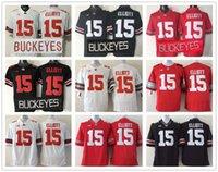 Wholesale Ohio State Buckeyes Jersey Football Ncaa College Ezekiel Elliott Jerseys Black White Red Grey