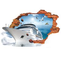 bedrooms interior design - The new foreign trade creative d steamship living room bedroom wall stickers decorative stickers Interior decoration