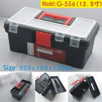 Wholesale inch plastic tool box with handle tray compartment storage and organizers G toolbox CM