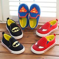 batman sneakers - Children Superman Spiderman Batman Shoes New Girls Boys Kids Christmas Halloween Shoes Size Fashion Sneakers