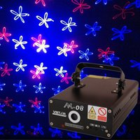 Cheap Fast delivery pro Stage Mini Lighting Red&Blue 300mW Multi-effect DJ Party Club Holiday Laser Light With Voice-activated or Auto control