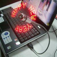 Wholesale LJJG251 Mini Fan Flexible USB LED Light Fan Programming Editing Creative Reprogramme Character Advertising Message Greetings