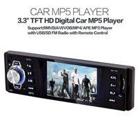 mp3 hd 3.5 - 3 Inch Stereo HD Car Radio Video MP5 Player USB SD FM Radio with Remote Control CAU_00B
