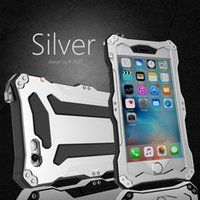 Per Apple iPhone 6 6S 6S più impermeabile antiurto in alluminio Gorilla Glass metallo della copertura della cassa IP68 R-Just custodia protettiva Diving