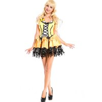 adult bee costumes - Sexy Bee Cute Fairy Costum Yellow Deluxe Dress Adult Womens Magic Moment Costume Halloween Fancy Dress