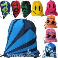 Wholesale Waterproof Swimming Bag cm cm Smile Beach Bag Multi purpose Casual Travel Wash Beam mouth package Hiking Travel backpacks