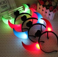 baby rave - 10 fashion baby shine toys luminous horns Hairband halloween and vocal concert LED rave toys