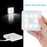 Wholesale Motion Sensor LEDs USB Charging Night Light Cabinet Closet Wall Lamp Portable