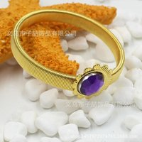 alexandrite gemstone jewelry - The new color acrylic bracelet gold metal spring Bridal Accessories colour hot ladies Bridal Jewelry Gemstone Bracelet Pack