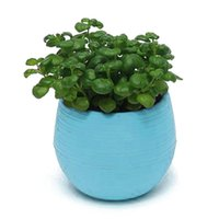 Wholesale 2016 sets Desk Mini Round Flower Plant Pot Planters Home Office Garden Decor Flowerpot New