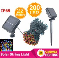 Wholesale New LED Solar string lights M LEDs colors Modes Solar power outdoor waterproof Solar string Lights For Garden Christmas decor