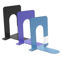 Wholesale Cheap x Durable Heavy Duty Metal Book End Shelf Bookend Holder Office School Supplies Stationery Student Good Helper