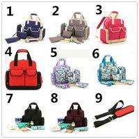 Wholesale 2pcs Top Grade Color Diaper Bag Mummy Mami Bag Baby Diaper Bag Nursery Bag Mama Bag Combination