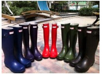 best wellies - 2016 Wellies Women Fashion Hunter Boots Stylish Women Boots Best Selling Ms glossy Hunter Wellington Rain Boots