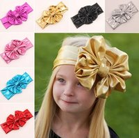 Hairbands Lace Floral 2016 Baby Gilding Gold Bowknot Bunny Ears headbands Kids Infant Luxury Head bands Ribbons Headwear Children's Hair Accessories Party Gift