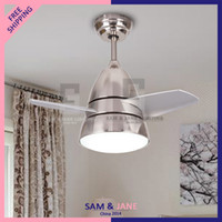Wholesale Modern American Dining Room Ceiling Fan Remote Control Electric LED Home Lighting CH P83B