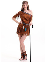 adult native american costume - Cosplay International Sexy Costumes For Women Native American Pow Wow Adult Costume One Shoulder Fringe Dress Outfit H39295