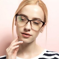 Wholesale LJJL211 TR Fashion Female Frames Glasses Little Cat Eyes Eyeglass Clear Lens Vintage Plain Optical Printing Eyeglasses Pieces