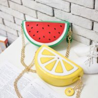 Wholesale HOT Sale Fashion Women Messenger bags orange handbags keys cell phone pocket shoulder bags watermelon crossbody bags
