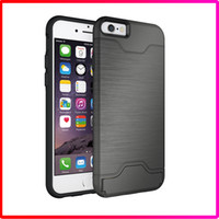 apple pocket pc - TPU with PC in Card Pocket Shockproof Waterproof Hard back Cover Shell for Iphone plus Case