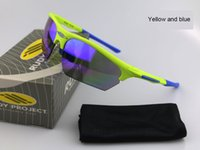 Wholesale 2016 NEW Rudy Sunglasses Polarizing Windproof Cycling Eyewear Fluorescent Colors Sports Goggles Sunscreen Fishing Outdoor Sunglasses