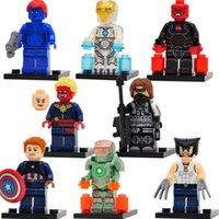 Wholesale Marvel Super Heroes Captain America Civil War Minifigures Mystique Wolverine Building Blocks Set Model Figures Toys