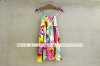Wholesale Girls dress style cool summer new Bohemia children dress clothing printing flowers 3