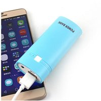 Cheap Real 5600mAh External Battery Pack Power Bank Portable Powerbank Mobile Phone Charger (18650 battery + usb cable)