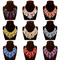 art quality necklaces - Charming Bridal Accessories Resin Colors Wedding Necklace High Quality Art Necklace For Wedding Party Beach